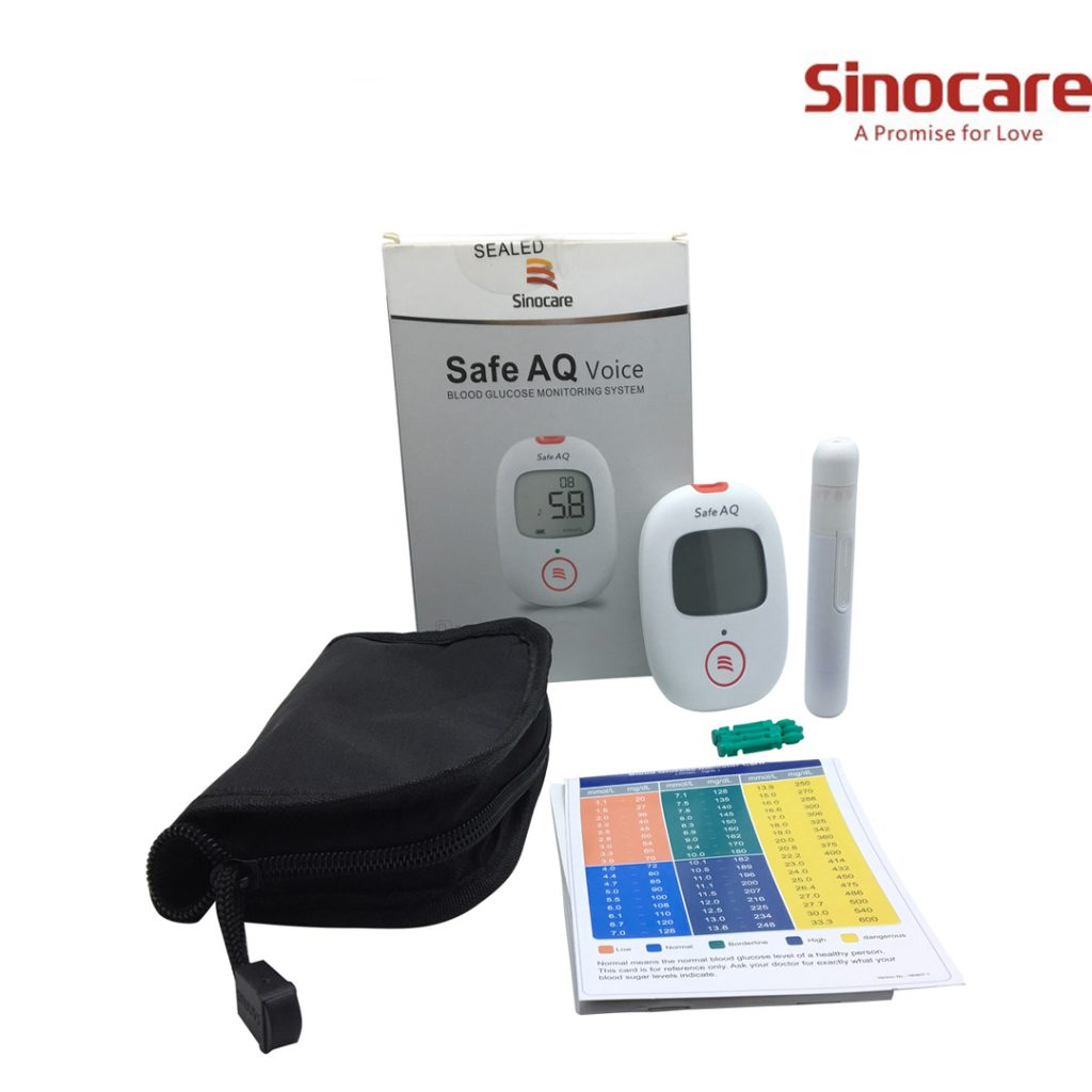 Sinocare SIN.VKIT – Save AQ Voice Blood Glucose Monitor System