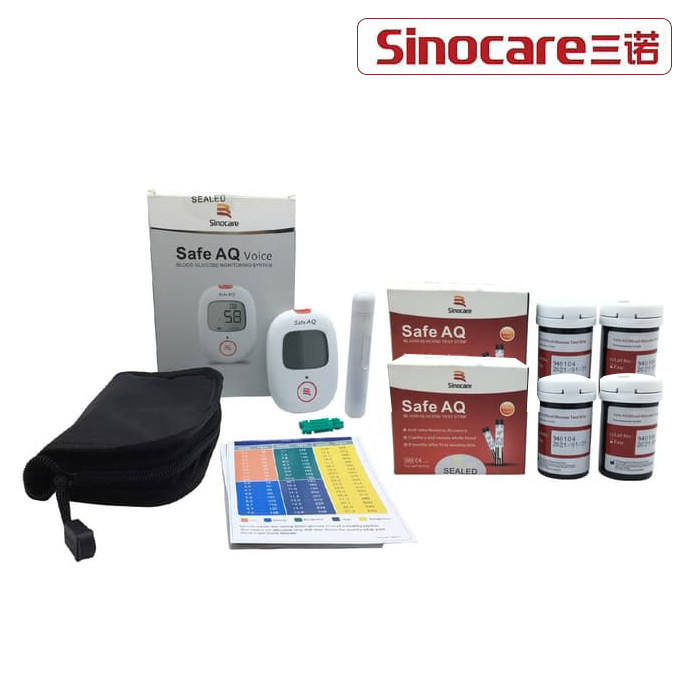 Sinocare – Save AQ voice blood glucose system + strip gula darah