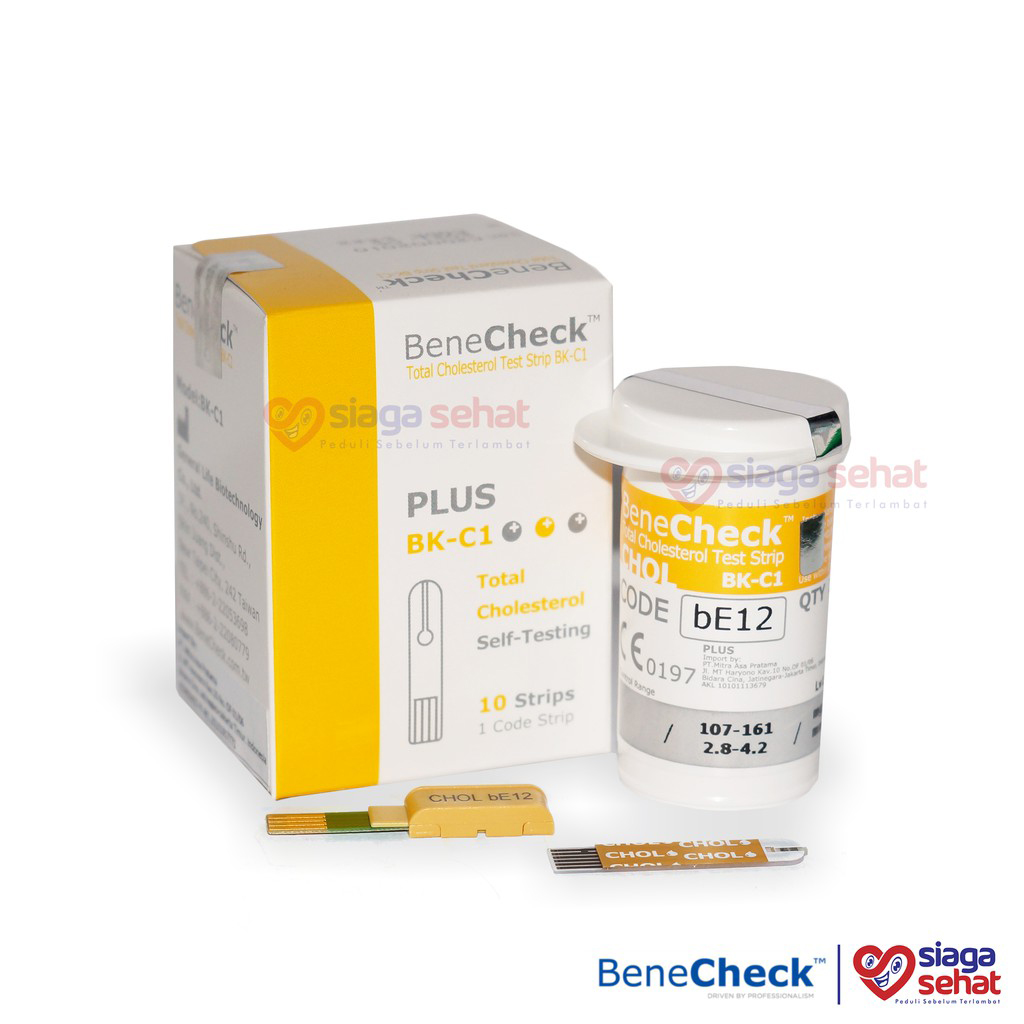 BeneCheck PLUS Test Strip Kolesterol (ISI 10Pcs)