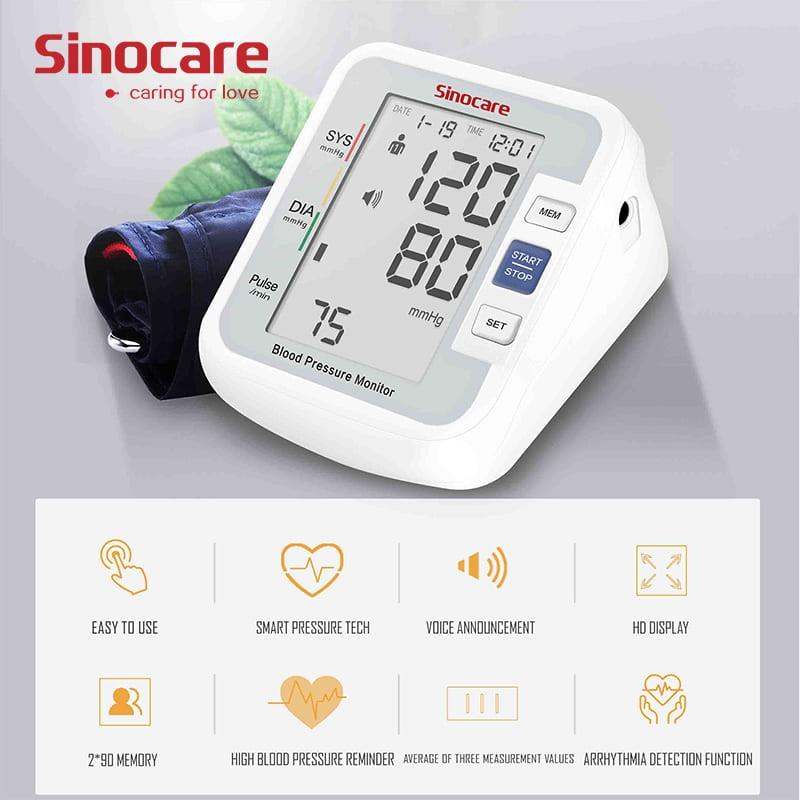 Tensimeter Digital – Sinocare BA-801 Cek Tekanan Darah